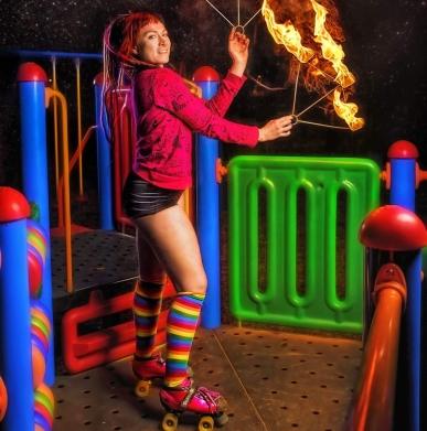 Sophie deLightful fire playground