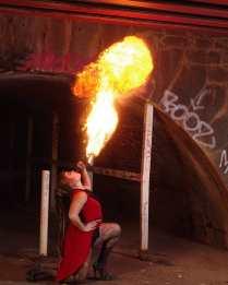 Sophie deLightful Fire breathing