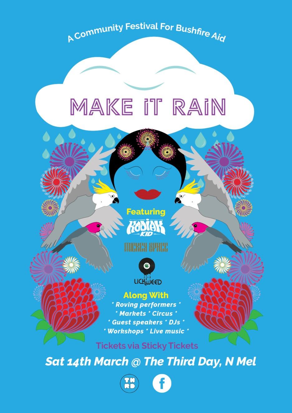 make it rain postering a4
